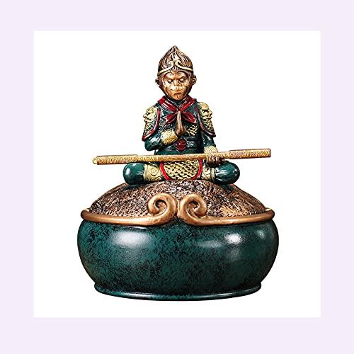 Decoración de escritorio Mono King Resina Ornamento Estatuilla Sun Wukong Estatua Decoración Decoración de Housewarming Felicitación Regalo Decoración para el hogar decoración para el hogar, oficina