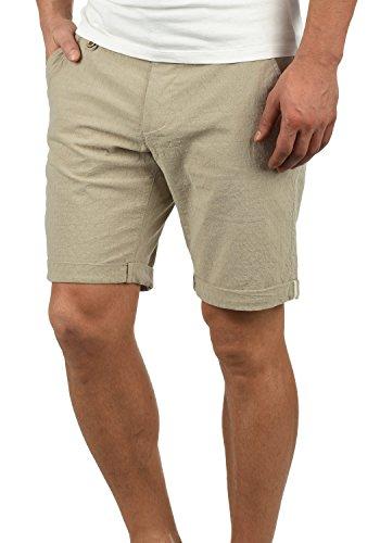 Blend Sergio Herren Chino Shorts Bermuda Kurze Hose Mit Rauten-Muster Aus 100% Baumwolle Regular Fit, Größe:L, Farbe:Sand Brown (75107)
