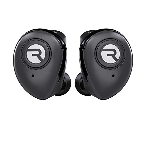 Raycon E50 Wireless Earbuds Bluetooth Headphones - Bluetooth 5.0 Bluetooth Earbuds Bluetooth Headset True Wireless Earbuds 30 Hours Playtime with Charging Case Built-in Mic Black