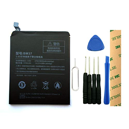 for Xiaomi Mi 5S Plus Premium Edition BM37 Replacement Battery with Tools Adhesive 3700mAh