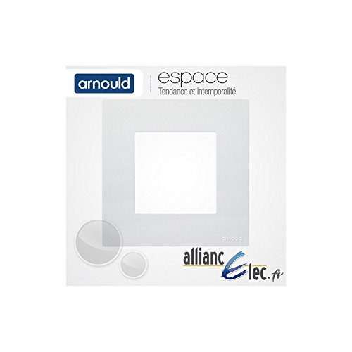 Arnould - Plaque Blanc Lumière 1 Poste Simple Arnould Espace