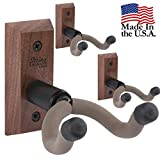 String Swing 3 pack CC01K-BW Hardwood Home and Studio Guitar Keeper - Black Walnut Acoustic Electric Guitar Hanger