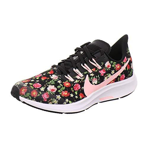 Nike Unisex-Kinder Air Zoom Pegasus Vintage Floral Traillaufschuhe, Black Pink Tint Pale Ivory White, 32 EU