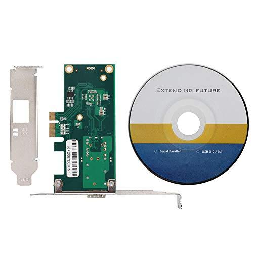 Garsentx Adaptador de Servidor de Red PCB Adaptador de Servidor de Red Ethernet de un Solo Puerto Gigabit PCI-E X1 de 1000 Mbps para Win 7/Win 8/Win 10