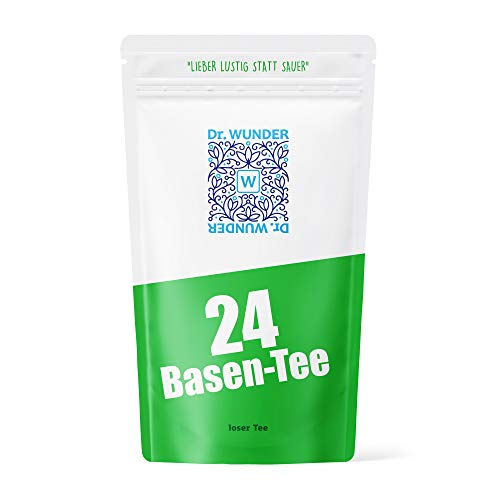 Dr. Wunder® 24-Basen-Tee 160g: Säure-Basen-Regulation mittels 24 ausgewählter Basen-Kräuter | universeller Basenausgleich für jeden Tag | ideal für Fasten- und Wohlfühlkuren