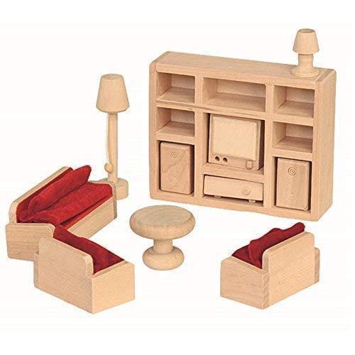 """Puppenhausmöbel \""""Wohnzimmer\"""", 11-teilig"""