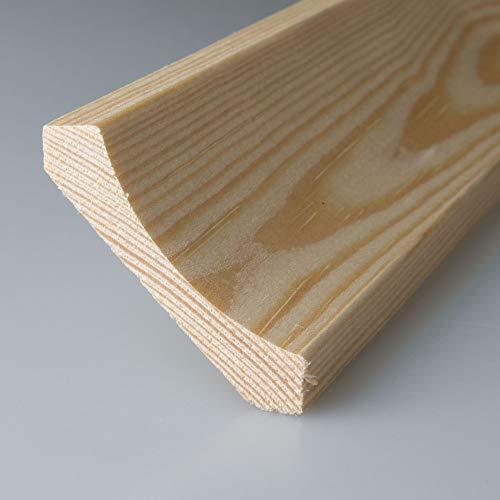 Hohlkehlleiste Abschlussleiste Abdeckleiste aus unbehandeltem Kiefer-Massivholz 2400 x 35 x 35 mm