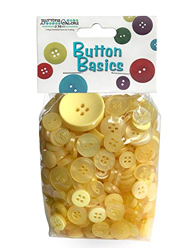Buttons Galore Hand Dyed Buttons, 5.5-Ounce, Sunshine Yellow