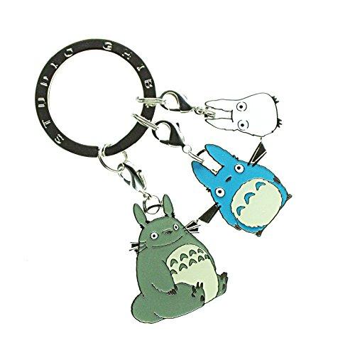 Totoro Schlüsselanhänger mit 3 Charm Anhängern Miminzuku Zuku Mimin Studio Ghibli Metall