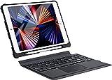 iPad第9世代キーボードケース タッチパッド付き iPad 10.2 10.5 キーボードケース 脱着式&一体式 iPad7 キーボード ipad 第8世代 ipad 第7世代 10.2 ipad pro 10.5 ipad air3 10.5対応 apple pencil収納 日本語説明書付き (ブラック)