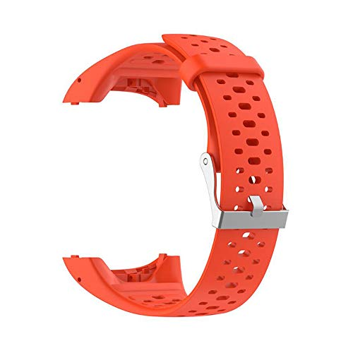 Fanuse Pulsera de Silicona para Correa de Mu?Eca para Polar M400 M430 GPS Sports Smartwatch Reemplazo de Pulsera Correa para Reloj con Herramienta Naranja