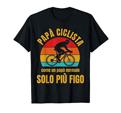 Uomo Papà Ciclista Divertente Ciclismo Bicicletta Bici Regalo Maglietta