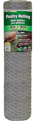 Midwest Air Technologies 308495B 36-in. x 150-Ft. Galvanized Poultry Net - Quantity 2