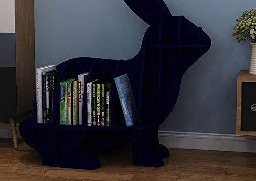 ASADVE Tierförmige Kaninchen Bücherregal Kindergarten Kindermöbel Kinder Bücherregal Regale Home Dekorationen Bodendekoration-Bule-L