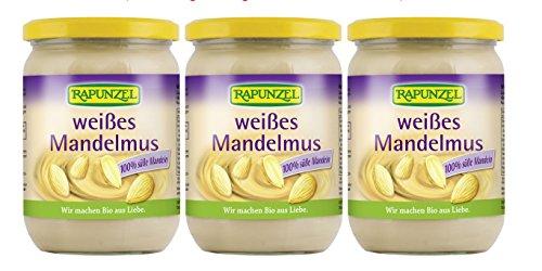 (EUR 33,58/kg) Rapunzel MANDELMUS weiß, bio 3x500g