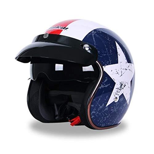 Cascos De Moto Motocicleta abierta de la cara Cascos Riding parasol Medio...