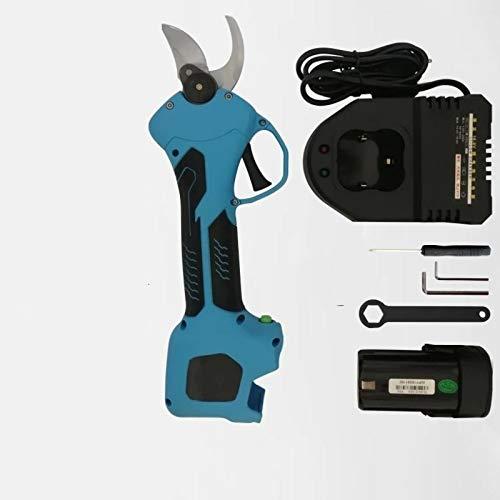 No-Branded Sierras de poda Eléctrico Recargable sin Cuerda poda Tijeras de poda Tijeras de jardín Pruner sécateur Poder de Corte Herramienta de Corte Jfycuicano (Color : Azul, Size : One Battery Kit)