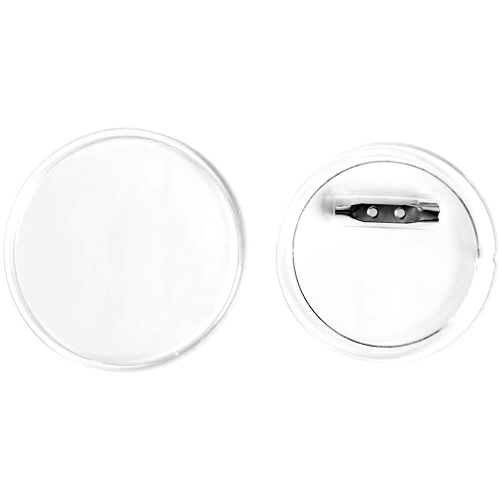 SBYURE 30 Sets Acrylic Design Button Clear Plastic Button Badges Kit with Pin for DIY Crafts (2.36 inch)