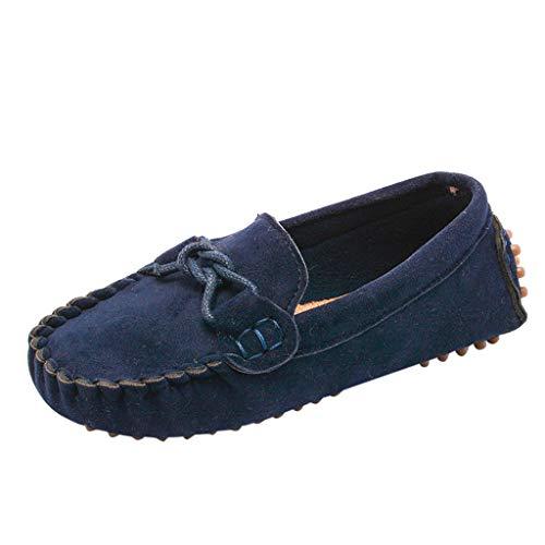 WEXCV Schuhe Jungen Mädchen Ohne Schnürsenkel Elegant Segelschuhe Unisex Wildleder Outdoor Kinderschuhe Sandalen