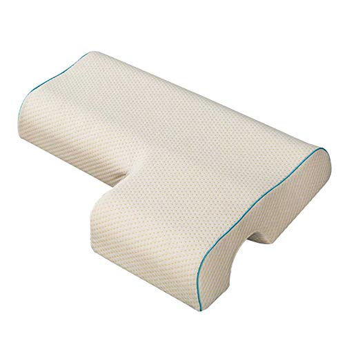 YQY Memory Foam Arched Cuddle Pillow Couples Pillow Arched Cuddle Pillow with Rebound Memory Foam Sleeping Pillow for Arm Rest,F