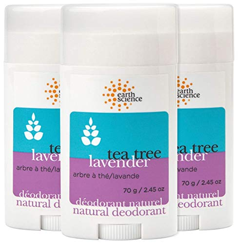 EARTH SCIENCE - Aluminum-Free Natural Lavender and Tea Tree Deodorant (3pk, 2.45 oz.)