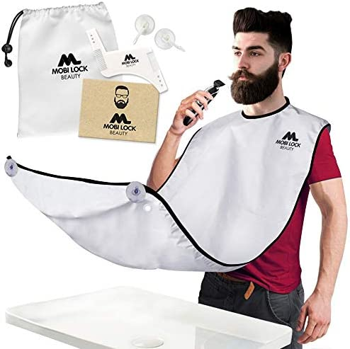 Best Beard Shaving Bib The Smart Way to Shave Beard Trimming Apron Perfect Grooming Gift or product image