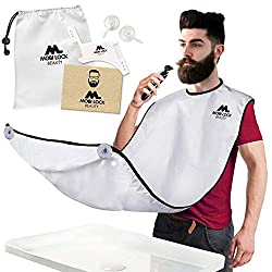 Mobi Lock Beard Shaving Bib - Includes Shaping Comb, Bag, and Grooming E-Book