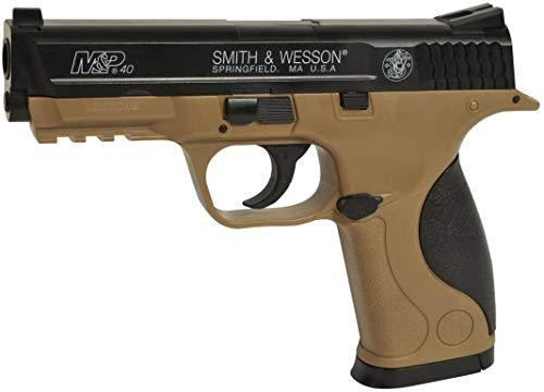 Pack Airsoft-Pistole S&W MP40 mit Feder, Material: Kunststoff mit hoher Dichte, manuelle Aufladung, Leistung: 0,5 Joule
