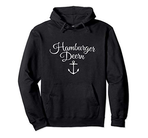 Hamburger Deern (Weiß) Hamburg Pullover Hoodie