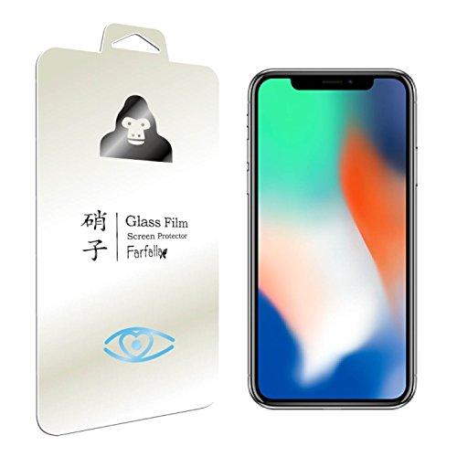 Farfalla iPhone X[ブルーライト92%カット / CORNING® GORILLA® GLASS4使用 / 3D Touch対応 / 硬度9H / オイルコーティング / 飛散防止]ガラスフィルム 0.3mm