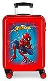 Marvel Spiderman Black Valise Trolley Cabine Rouge 37x55x20 cms Rigide ABS Serrure à combinaison 34L 2,6Kgs 4 roues doubles Bagage à main
