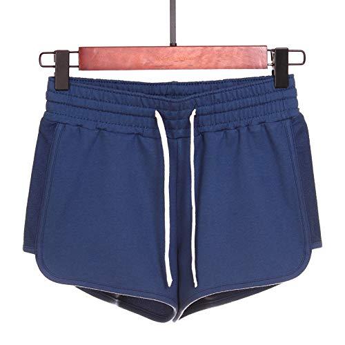 Pantalones Cortos Casuales de Amarre de algodón para el hogar Fino, Suave y Puro para Mujer, Pantalones Cortos cómodos de Verano Sueltos para Ejercicio de Yoga 3X-Large