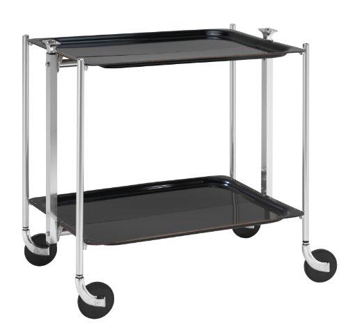 Platex Textable 500250002 Table Roulante 2 Étages Noir Chromé