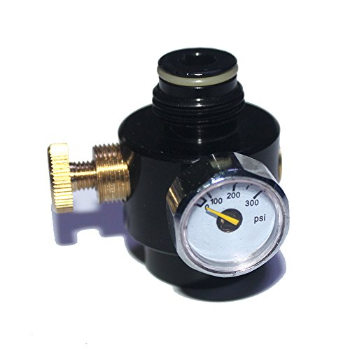 Airsoft PCP Paintball Tank Cylinder Adjustable Compressed Air Regulator Output Pressure 0-300psi 0.825-14NGO Thread