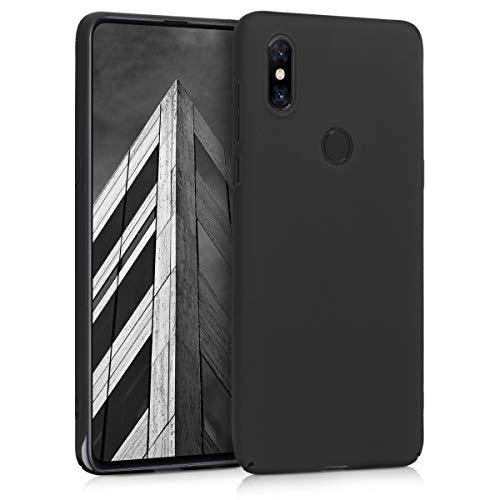 kwmobile Funda para Xiaomi Mi Mix 3 - Carcasa Protectora Dura para móvil - Case Trasero Duro en Negro Mate