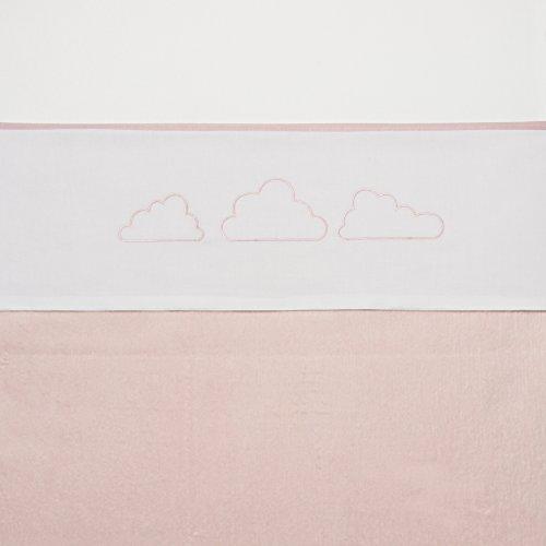 Meyco 414023 Ledikantlaken little clouds, ledikant, lichtroze/wit