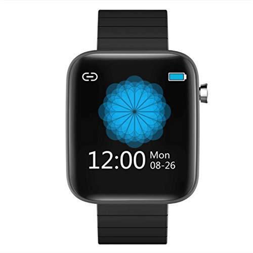 HJKPM Smartwatch De La Pantalla Táctil, Reloj Elegante Grande De La Salud De Los Deportes De La Pantalla A Color con Función De Detección De Presión Arterial De Frecuencia Cardíaca De Cronómetro