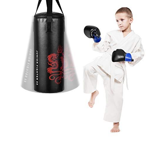 GYMAX Kids Punching Bag Set, Prefilled...