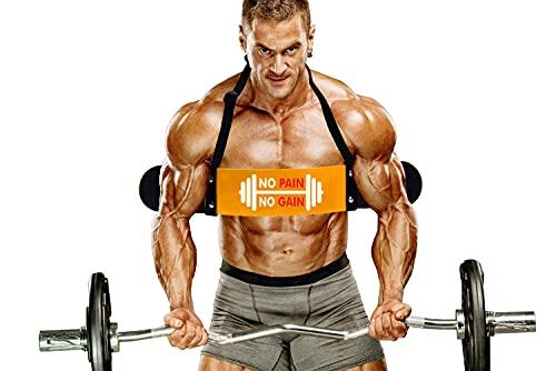 Aprodo Heavy Duty Biceps Isolator, Arm Blaster (Yellow)