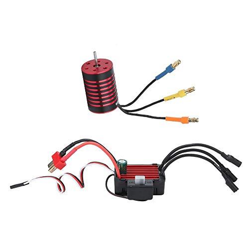Dilwe RC Motor ESC Combo, 2435 Brushless 4800KV Motor + 25A Wasserdichter Regler für 1/16 1/18 RC Autozubehör
