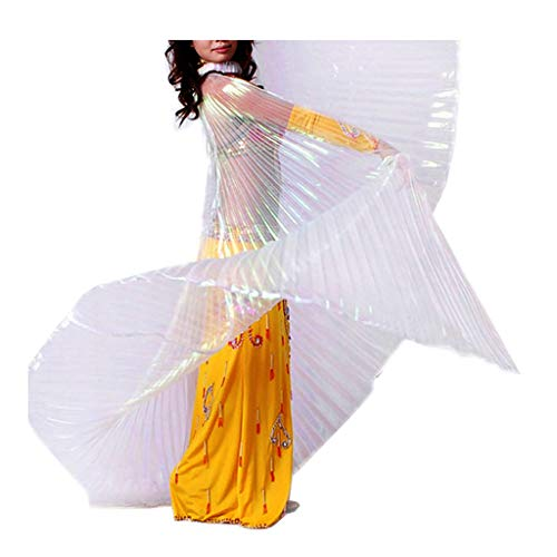 Pilot-Trade Women's Egyptian Egypt Belly Dance Costume Bifurcate ISIS Wings, Whtie, One Size