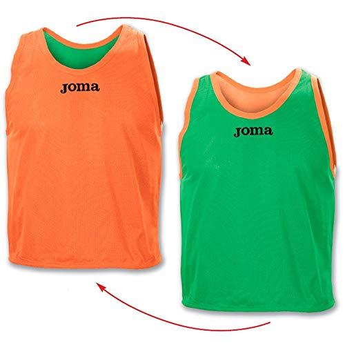 Joma Reversible, Peto, Verde-Naranja, Talla 16-XS