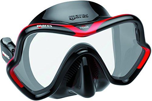 Mares Mask One Vision Taucherbrille, Rot/Schwarz, BX