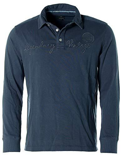Kitaro Polosweat Polo Sweatshirt Shirt Herren Langarm Plusgröße, Farbe:dunkelblau, Herrengrößen:3XL