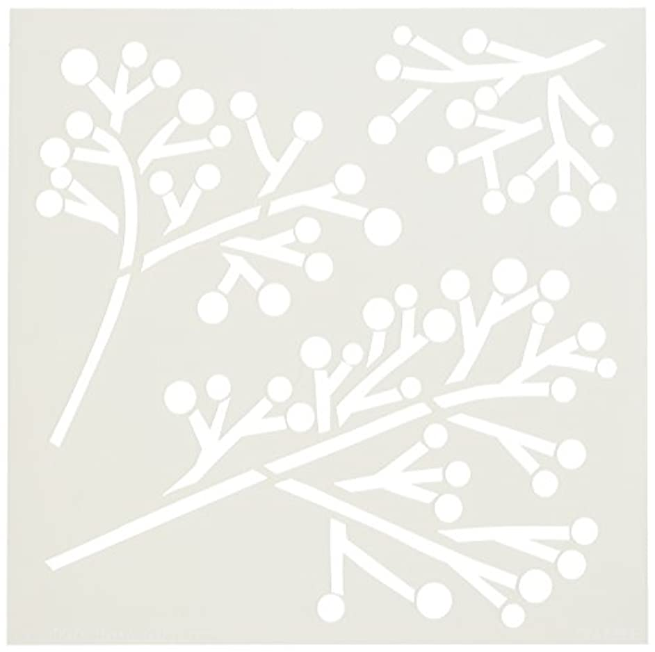 CRAFTERS WORKSHOP Twig & Berries Template, 6 by 6