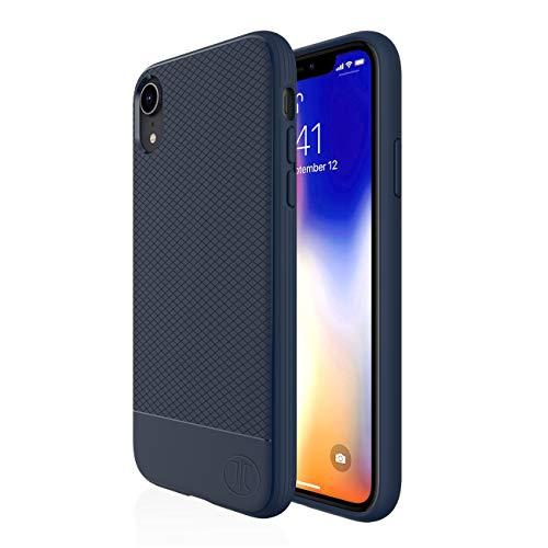 Preisvergleich Produktbild JT Berlin Backcase Pankow Silikon Hülle für das Apple iPhone XR in blau [Qi kompatibel,  Strukturierte Oberfläche,  1,  0m getesteter Fallschutz,  Verstärkte Ecken] - 10480