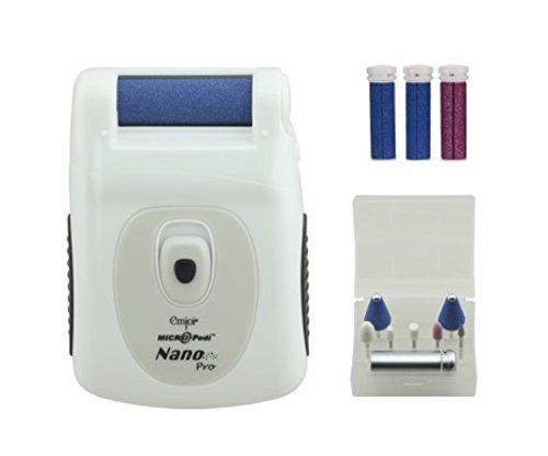 Emjoi Micro-Pedi Nano Pro Callus Remover w/Manicure Kit & Extra Rollers (White)