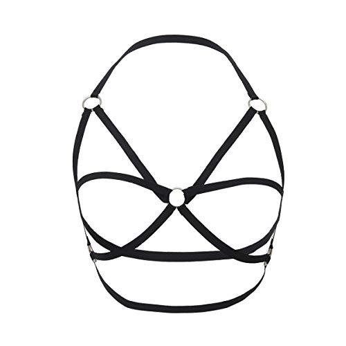 LASTARTS Moda Sexy Stretch Clothing Chain Nightclub Body Chain for Mujer Belly Jewelry Waist Chain (Color : Black-2)