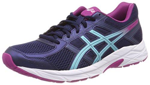 Asics Gel-Contend 4, Zapatillas de Running Mujer, Azul (Peacoatporcelain Bluefuchsia Red 5814), 44.5 EU
