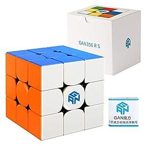 Coogam GAN 356 R S Speed Cube Gans 356R 3x3 Stickerless Gan356 RS 3x3x3 Speedcube GES V3 System by Coogam